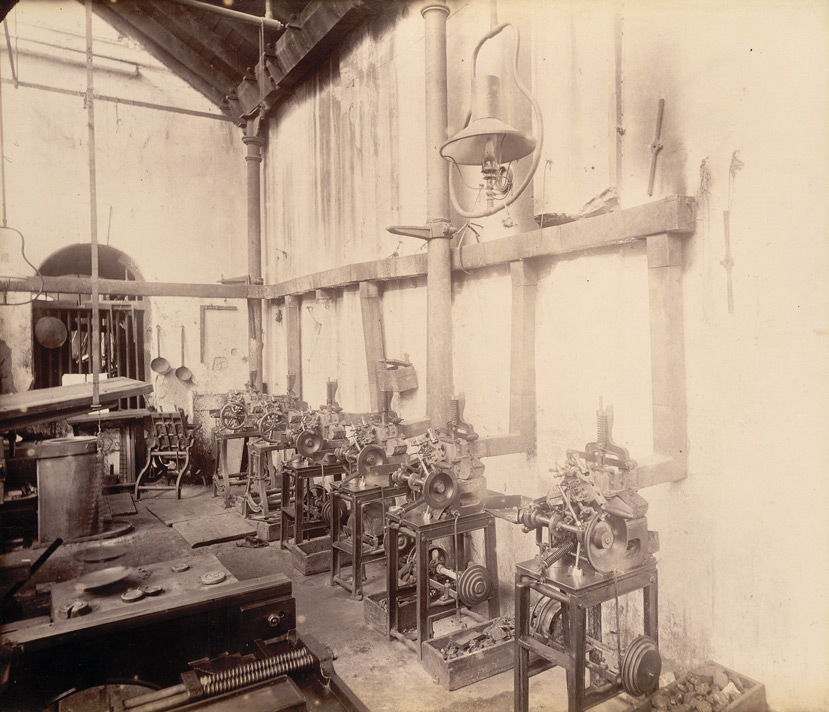 Stereo and type casting room ['Times of India'], - November 1898.
